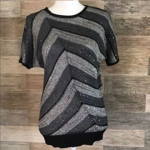 Eci sparkly tunic style blouse
